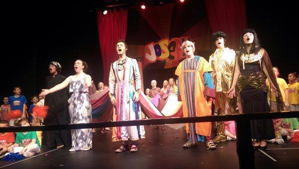 Joseph and his Technicolour Dream Coat costumes